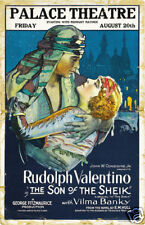 The son of the Sheik Rudolph Valentino movie poster print