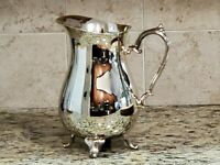 VINTAGE INTERNATIONAL SILVER COMPANY WATER PITCHER SILVERPLATE 9 INCHES