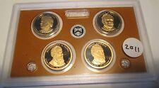 5 Set 2011 S Presidential Dollar Proof Set U.S. Mint Plastic No Box No COA