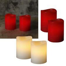 2 Piece Set Mini LED Echtwachs-Kerzen 60x50mm with Timer Flickering Wax Candle