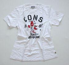 Camisetas de hombre de manga corta blanco talla M