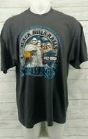 Harley-Davidson Men's Size 2XL 2003 Sturgis T Shirt Gray Black Hills Rally