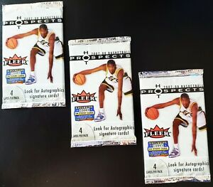 2007-08 FLEER HOT PROSPECTS FACTORY SEALED 3 PACKS *DURANT ROOKIE, MEMOR, AUTO*