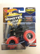 Hot Wheels Dooms Day1:64 Monster Jam Truck with team flag Sealed New