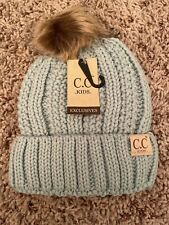 Authentic Cc Kids Beanie Baby Toddler Knit Children Pom Winter Hat Mint Green