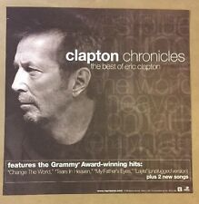 Eric Clapton Reprise Records Promo Poster Chronicles Best Of Near Mint Unused