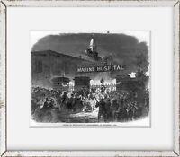 Photo: Attack, Quarantine establishment, Staten Island, NY, 1858