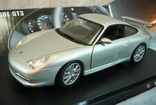 Hot Wheels Porsche GT3 Coupe Silver Car Die Cast 1:18 Scale! New in Box # C2590