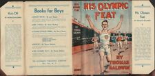 His Olympic Feat, Books for Boys, With Dust Jacket, 1932
