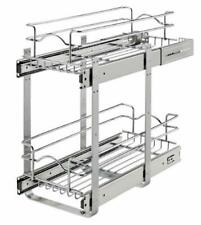 """New listing Rev-A-Shelf 5Wb2-0918 5Wb Series 9""""W by 18""""D Two Tier Pull Out - Chrome"""