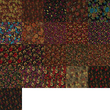 Floral Printed Peachskin Fabric Silky Satin Feel for Crafts, Dress - Per Metre