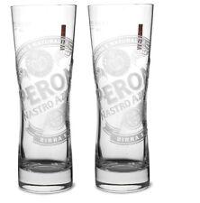 Peroni Nastro Azzuro HALF Pint Glasses (Set of 2) New