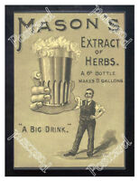 Historic Newball & Mason Extract of Herbs Beer 1890s Advertising Postcard