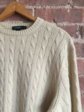 J. Crew Mens Wool Cashmere Blend Cable Knit Sweater Size Medium