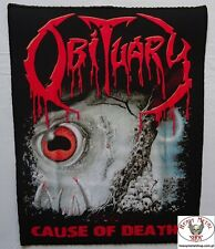 OBITUARY - ,,Cause of Death,, Backpatch Giant Back Patch Rückenaufnäher Aufnäher