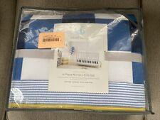 4 Pc Cloud Island Quilt Blanket Sheet Skirt Stars Dogs Nursery Crib Bedding Set