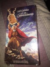 The Ten Commandments (VHS, 1998) 2 Tapes Charting Heston NEW SEALED