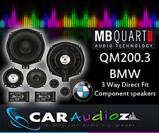 MB Quart QM200.3 BMW Custom Fit Component Speakers BMW 1, 3, 5 Series all models