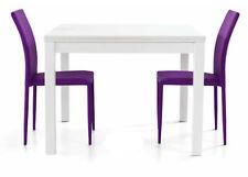 Table 1559 Ouverture Rabattable Blanc Frene CM 90x90x76H Fermé