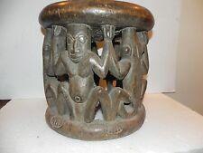 "Arts of Africa - Bamileke Stool - Cameroon - 13"" Height x 14"" Wide x 44"" CIR"