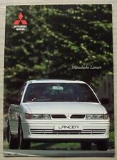 MITSUBISHI LANCER Car Sales Brochure Oct 1992 #10/92  1600GLXi & 1800GTi