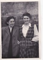1950s Pretty young women girls friends students fashion old Russian Soviet photo