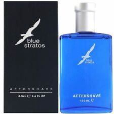 BLUE STRATOS 100ML AFTERSHAVE BRAND NEW AND BOXED *