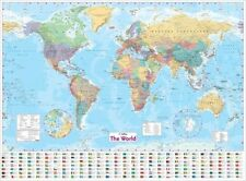 Wall/Poster World Maps & Atlases