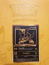 Pokemon Base 1st Pinsir Gold LUXURY CARD custom card Christmas gift