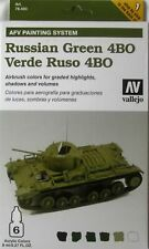 Vallejo Model Color Armour Colour Set - AFV Russian Green VAL78403