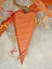 Holz Herz orange Fenster Wand Tür Hänger Landhaus Country Shabby Deko rustikal