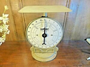 VGC VINTAGE SALTER cast iron POSTAL/PARCEL SCALES No 25 - weighs up to 22lb