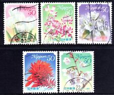 Japan 2010 50y Hometown Flowers No6 set of 5 Fine Used