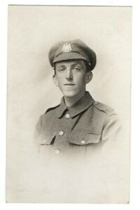 "RP WW1 "" LEEDS PALS "" WEST YORKSHIRE REGIMENT SOLDIER   REAL PHOTO c1915"