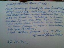 Conrad Felixmüller, eigenhändige Postkarte 1972, Absenderstempel