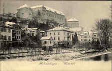 """Hohentübingen Tübingen """"Winterbild"""" alte Postkarte ~1900 diverse Gebäude Häuser"""