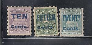 Liberia # 95-97 1903 Surcahrge Complete Mint 1903 Surcharge Set