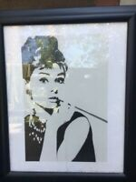 Audrey Hepburn Cigarette B&W Framed Poster Print 2010 Paramount Pictures 20 x 24