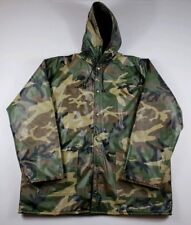 Vintage Winchester Camo Camouflage Rain Coat Size XL Insulated PVC Snap Button