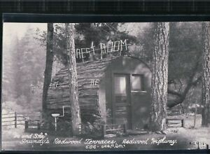 "2 Bit Postcards- A257 RPPC ""Grundy's Redwood Terraces, Garberville, Calif."""