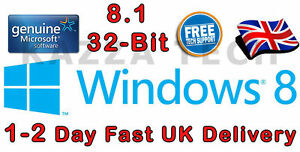 Microsoft Windows 8.1 32-bit OEM English International DVD GENUINE Full Version
