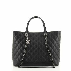 Chanel Easy Shopping Tote Quilted Calfskin Large
