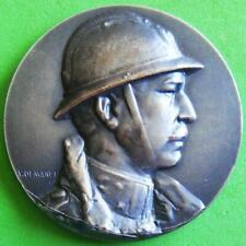 Monarchy King Albert I of Belgium with Adrian Helmet 1918-68 Medal by DEMANET!