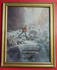 Guardian Angel Children & Waterfall 1989 Scafa-Tornabene Art Litho 8x10 - Rare!