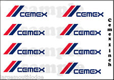 NEW PEEL AND STICK  CEMEX 1 INCH WATERSLIDE DECAL SET