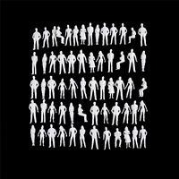 10 PCS 1:50 scale model human scale HO model ABS plastic people-SL
