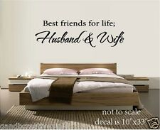 BEST FRIENDS FOR LIFE HUSBAND & WIFE VINYL WALL DECAL WALL LETTERS HOME DECOR