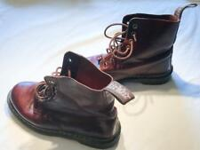 Size 6 Dr Martens Air Wair Red-Brown Leather Lace-Up Ankle Boots