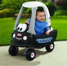 Little Tikes Patrol Police Car Cruiser Ride Kids Toy Cozy Coupe Vehicle Plastic