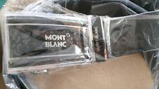 Montblanc Leder Gürtel 115cm  schwarz Automatik Schnalle Kurzen möglich